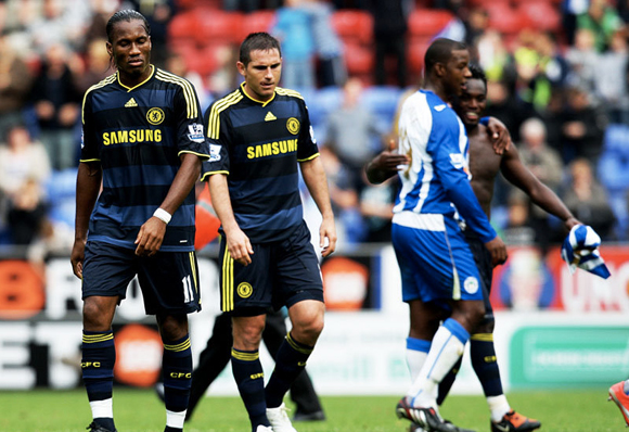 Frank Lampard and Didier Drogba suffer the weight of £100k plus weekly wages
